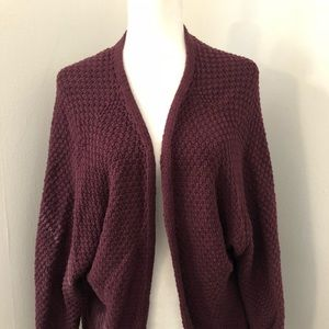 Brandy Melville Open Front Cardigan Plum One Size